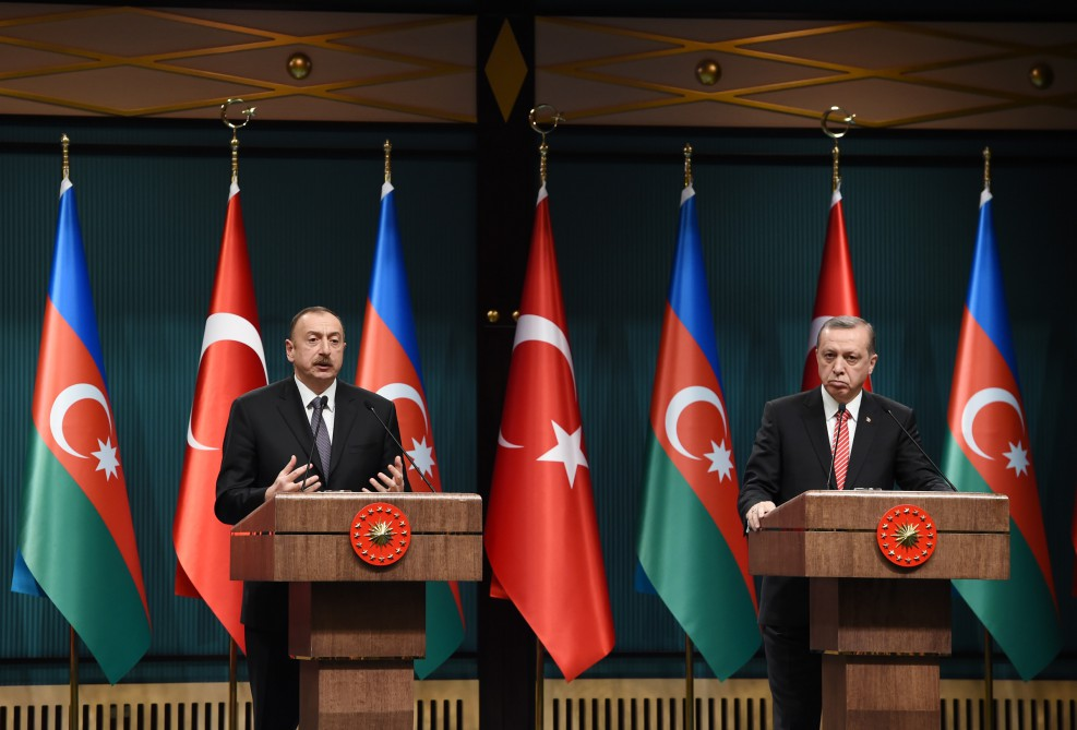 Presidents of Azerbaijan and Turkey made statements for the press VIDEO