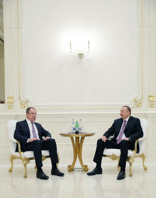 President Ilham Aliyev met with Russian FM Sergei Lavrov VIDEO