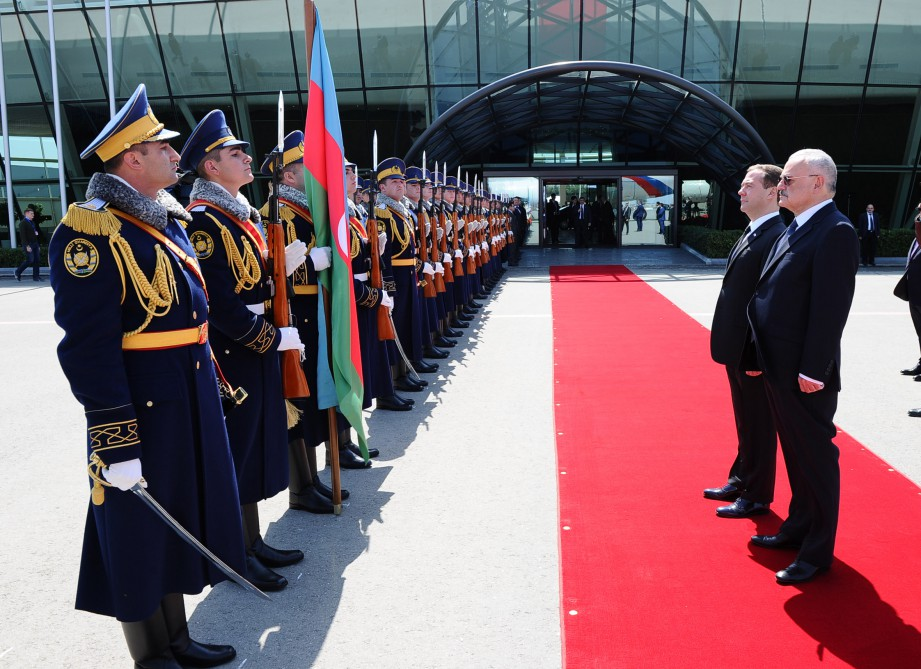 Russian Prime Minister Dmitry Medvedev embarks on official visit to Azerbaijan