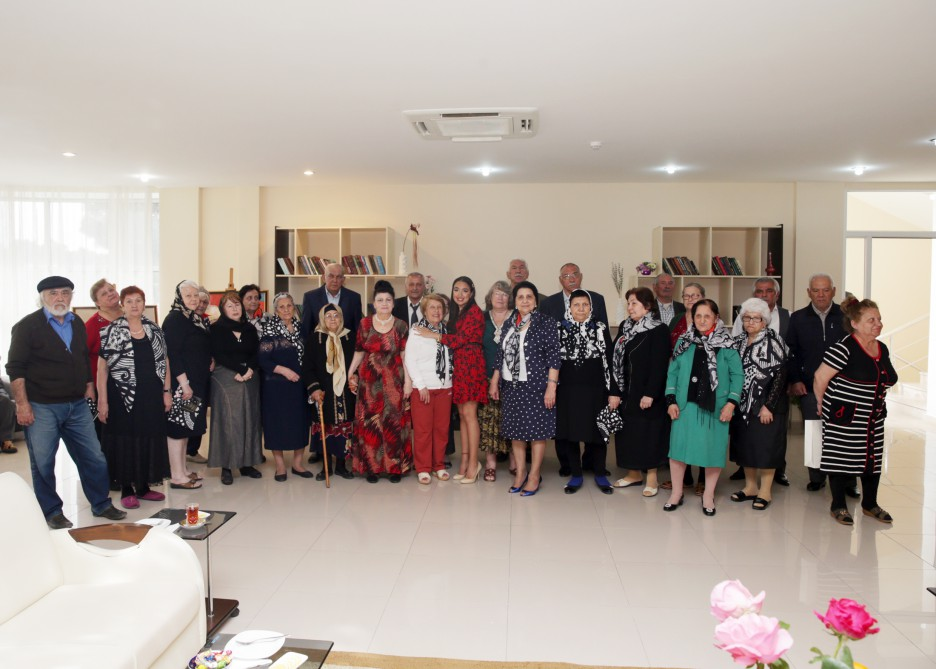 Vice-president of Heydar Aliyev Foundation Leyla Aliyeva visits care home for war and labor veterans