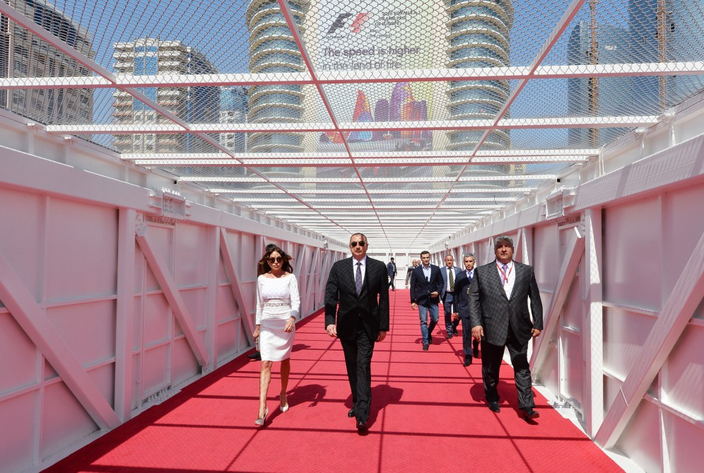 Formula 1 Grand Prix of Europe successfully wrapped up  President Ilham Aliyev watched the opening ceremony of the Grand Prix and final race VIDEO