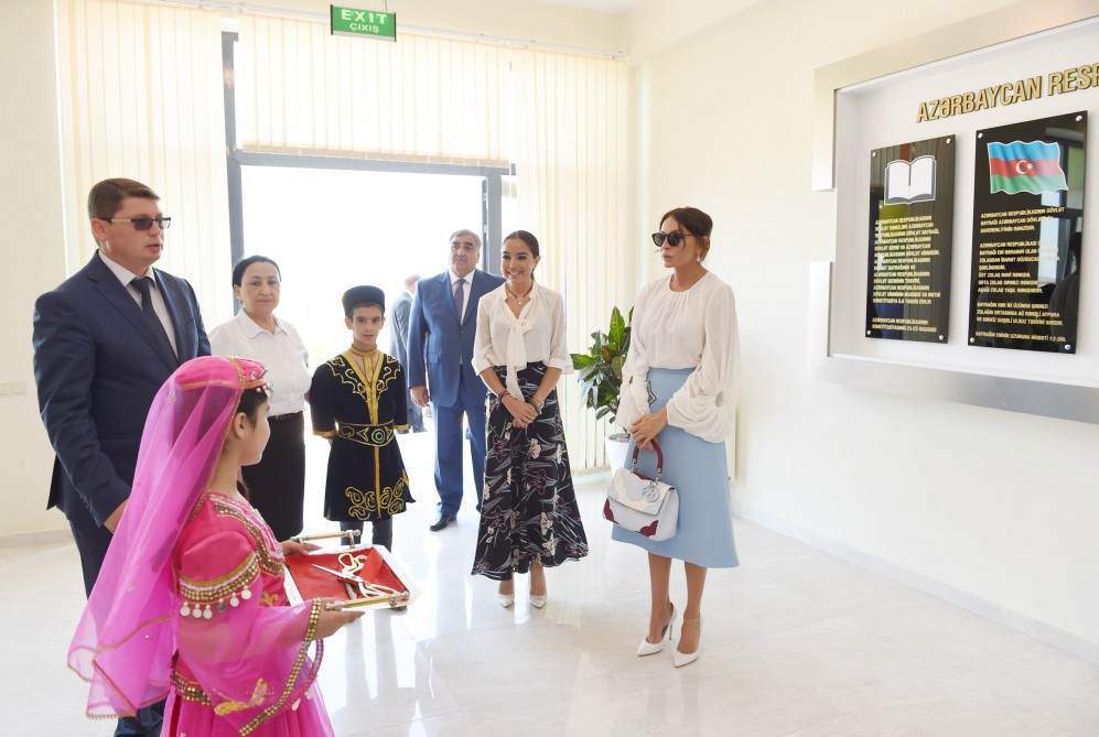 Azerbaijan's first lady Mehriban Aliyeva attends opening of Dalga summer camp in Zira