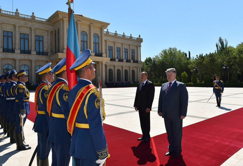 Official welcoming ceremony was held for Ukrainian President Petro Poroshenko VIDEO