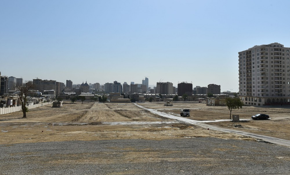 "President Ilham Aliyev laid foundation of new road and transport infrastructure in former ""Sovetski"" area in Baku VIDEO"
