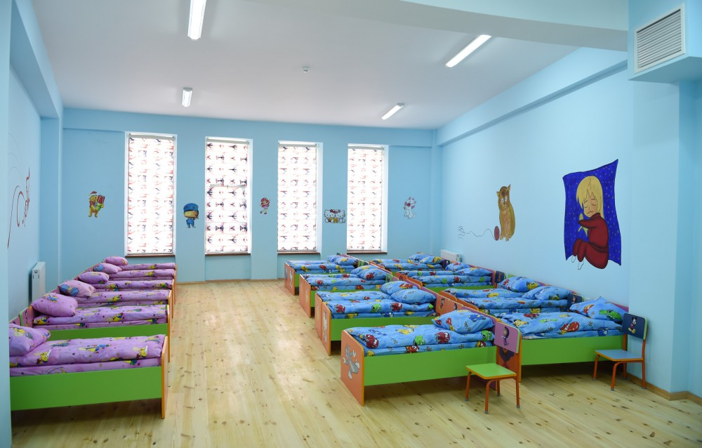 President Ilham Aliyev attended opening of kindergarten constructed in Qabala on initiative of Heydar Aliyev Foundation VIDEO