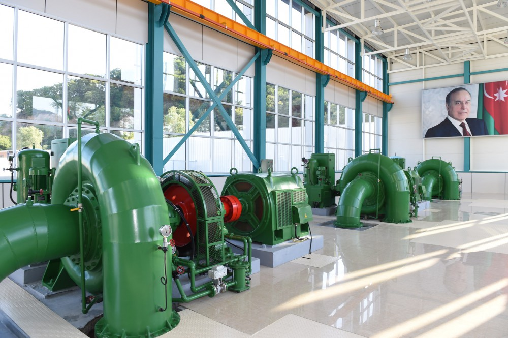"President Ilham Aliyev attended opening of ""Ismayilli-2"" hydroelectric power plant VIDEO"