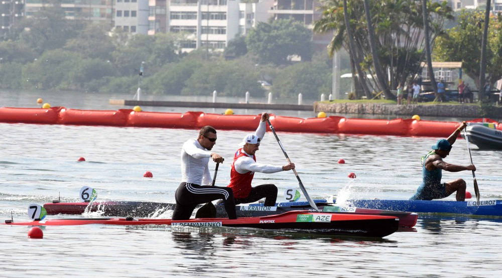 Azerbaijan's Demyanenko wins Olympic silver in Men's Canoe Single 200m race