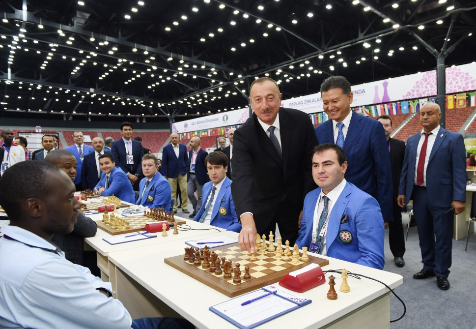 First round of 42nd Chess Olympiad started in Baku Azerbaijani President Ilham Aliyev attended the opening of the first round VIDEO