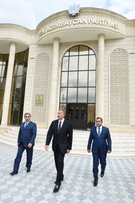 President Ilham Aliyev opened new administrative building of YAP Salyan district branch