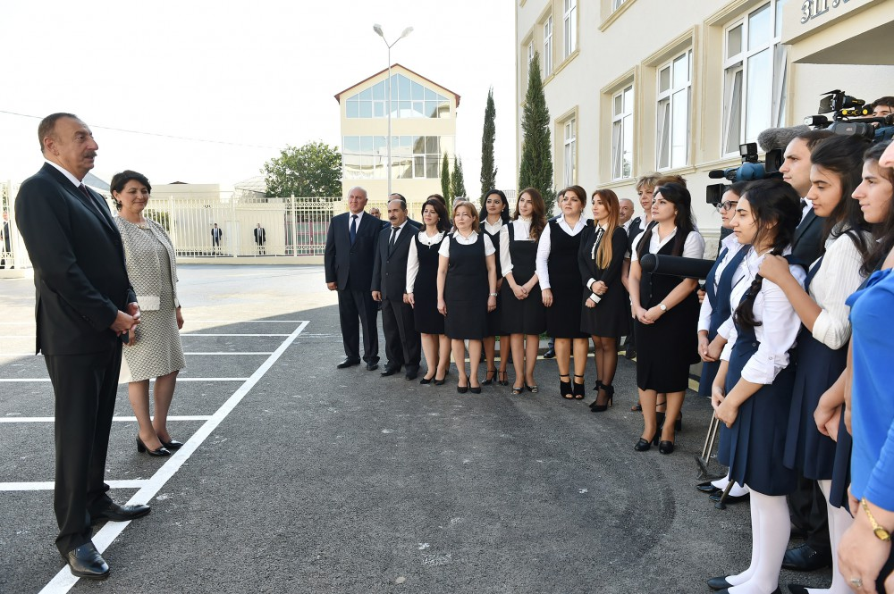 President Ilham Aliyev attended opening of new building of school No. 311 in Sabunchu VIDEO
