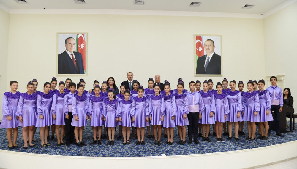 President Ilham Aliyev inaugurated Children's Arts School in Sumgayit VIDEO