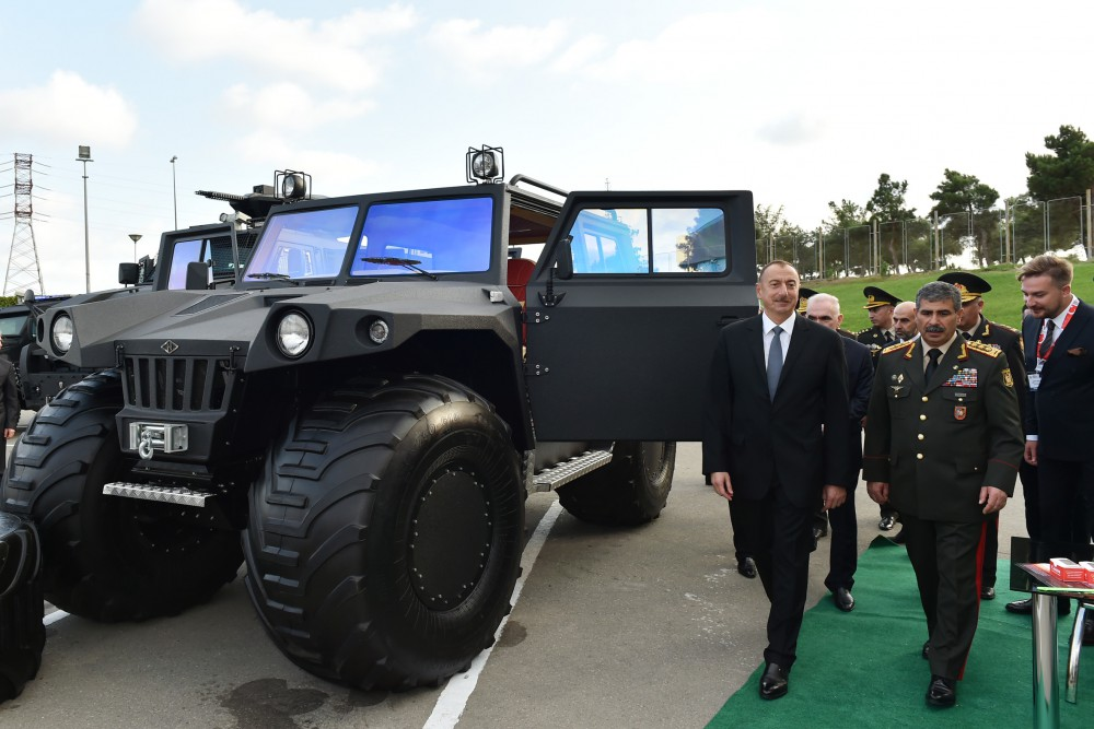President Ilham Aliyev viewed 2nd Azerbaijan International Defense Exhibition ADEX 2016 VIDEO