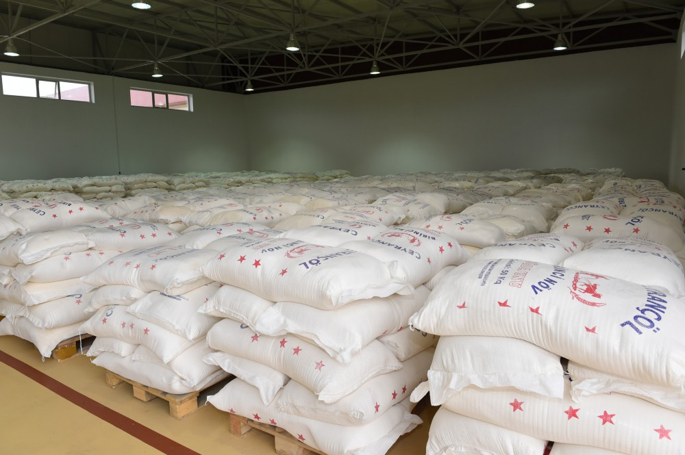President Ilham Aliyev laid foundation of granary of Aghstafa grain processing and flour products plant VIDEO