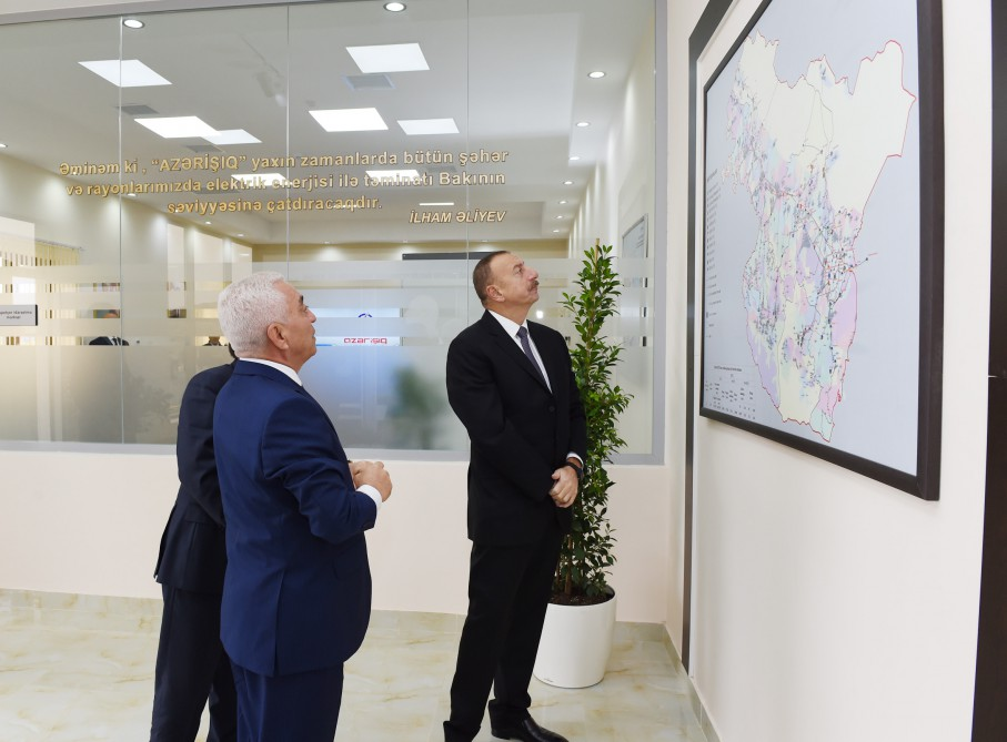 "President Ilham Aliyev attended opening of ""Daş Salahlı"" sub-station in Qazakh VIDEO"
