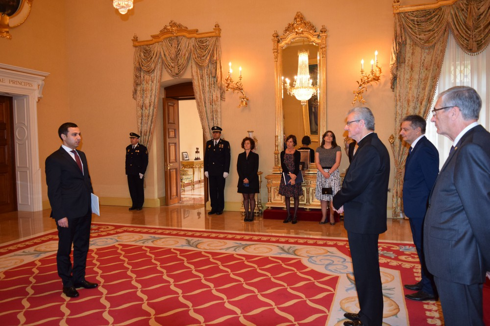 Azerbaijani Ambassador to Spain presents credentials to Co-Prince of Andorra