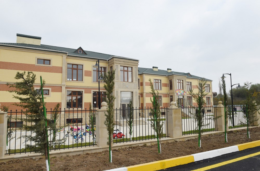 President Ilham Aliyev attended opening of orphanage-kindergarten in Beylagan VIDEO