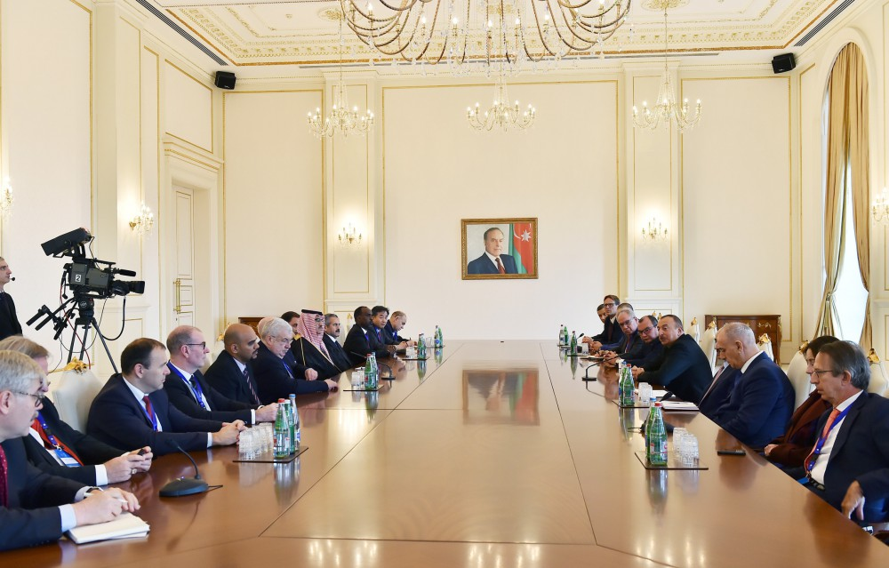 President Ilham Aliyev received group of participants of 5th News Agencies World Congress VIDEO