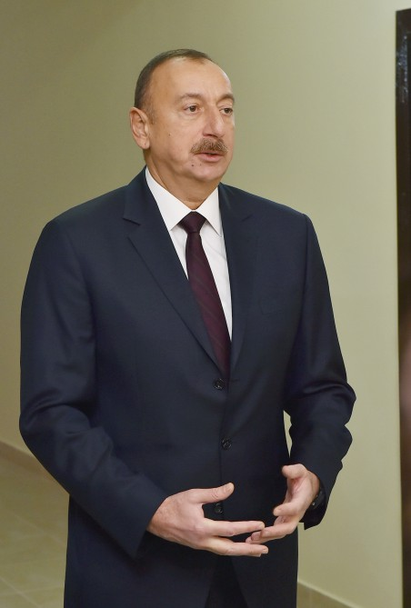 President Ilham Aliyev inaugurated new residential building in Sabunchu district VIDEO