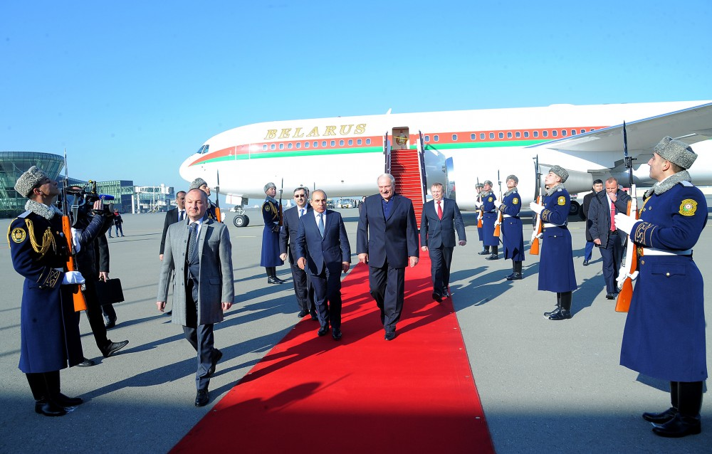 Belarus President arrives in Azerbaijan for official visit