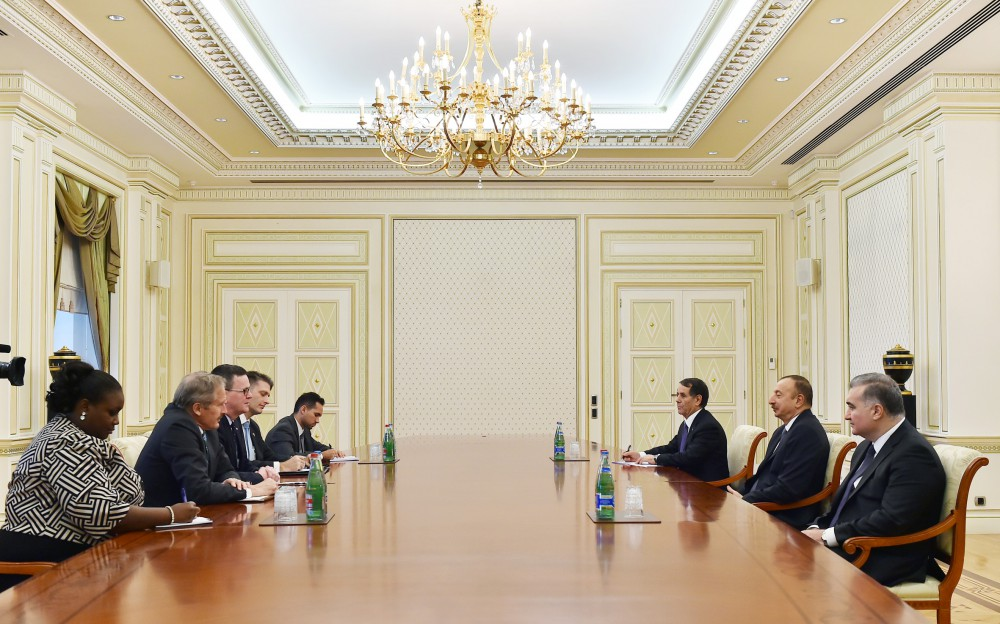 President Ilham Aliyev received representatives of US Department of Commerce VIDEO