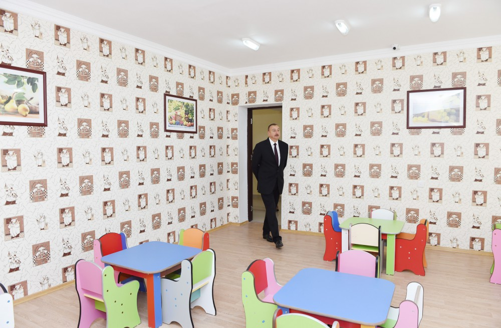 President Ilham Aliyev attended opening of orphanage-kindergarten in Tartar VIDEO