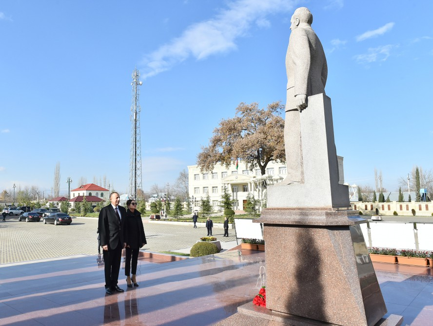 President Ilham Aliyev arrived in Aghdam district for visit VIDEO