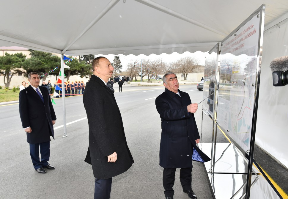 President Ilham Aliyev opened section of Zigh-Amirjan-Yeni Surakhani highway VIDEO