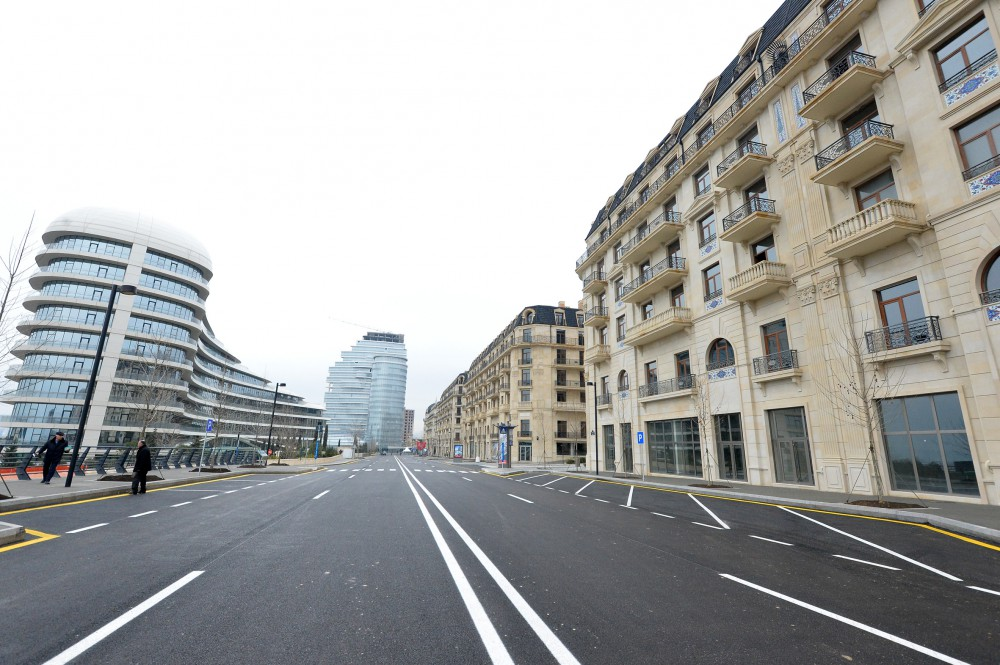 President Ilham Aliyev viewed works carried out in Baku White City VIDEO