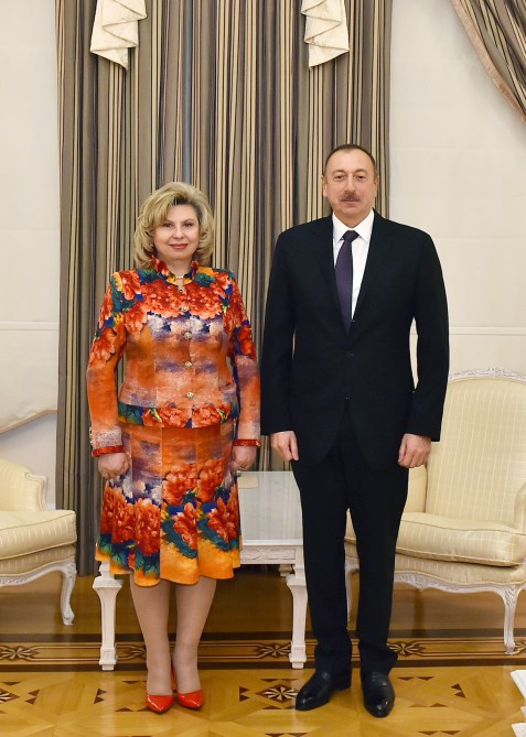 President Ilham Aliyev received Russian Commissioner for Human Rights  VIDEO
