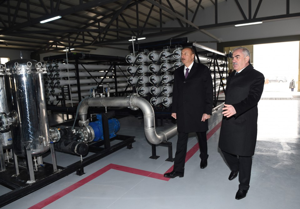 President Ilham Aliyev attended ceremony to launch drinking water supply and sewage systems in Julfa district center and surrounding villages VIDEO