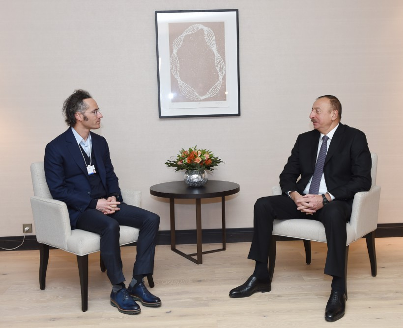 President Ilham Aliyev met with Chief Executive Officer and co-founder of Palantir Technologies in Davos VIDEO