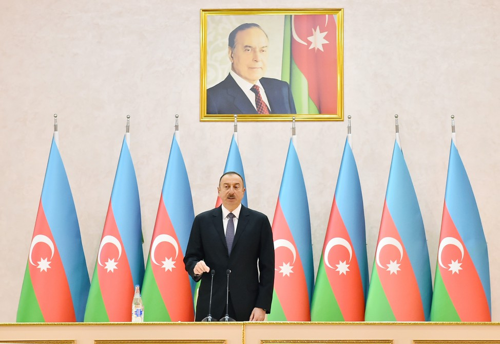 President Ilham Aliyev attended opening of new military camp of Defense Ministry's military unit VIDEO