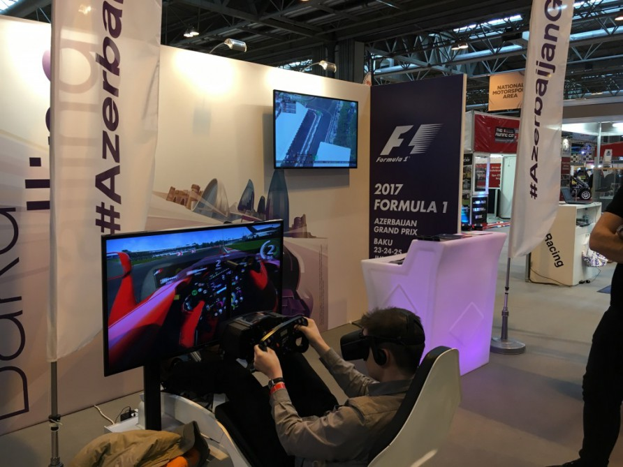 Formula 1 Azerbaijan Grand Prix stand proves highlight for fans at Autosport International Show