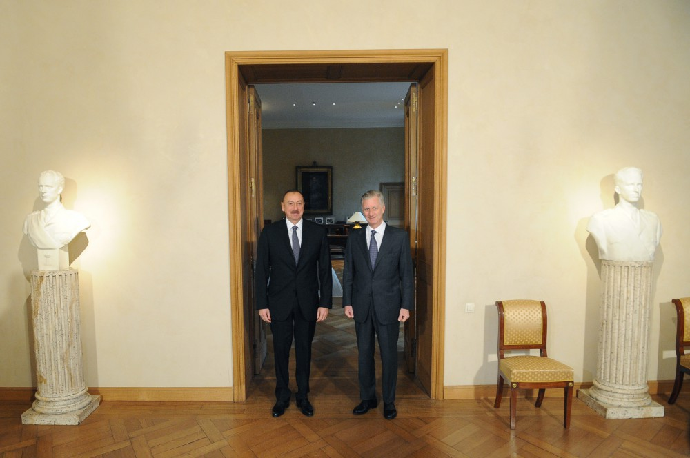 President Ilham Aliyev met with King Philippe of Belgium VIDEO