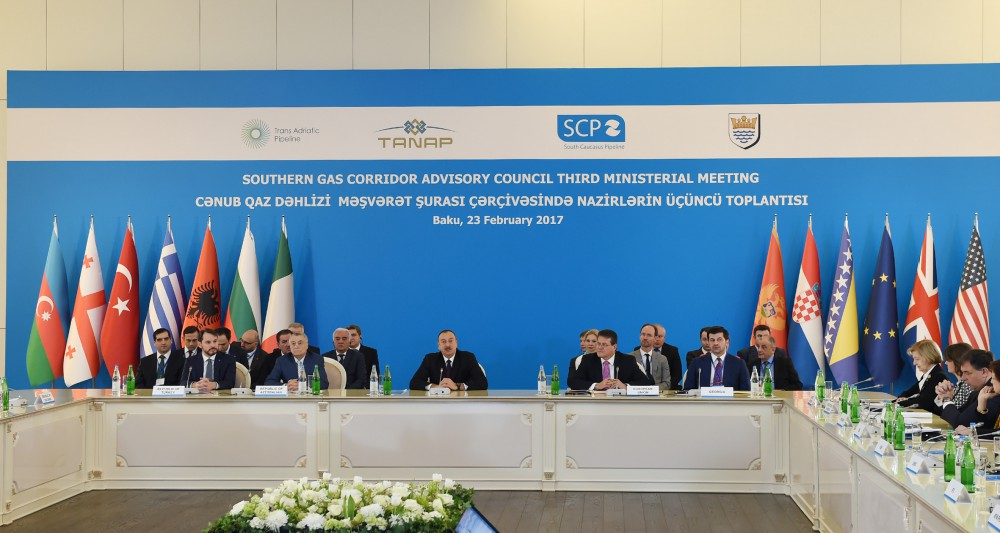 Third Ministerial Meeting of Southern Gas Corridor Advisory Council kicked off in Baku VIDEO