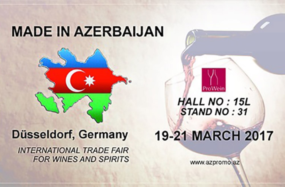 Azerbaijani wines to be presented at Prowein 2017 trade fair