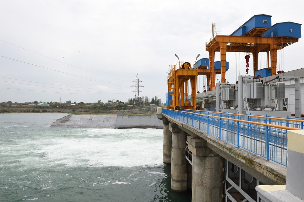 President Ilham Aliyev launched newly reconstructed Varvara Hydroelectric Power Station VIDEO
