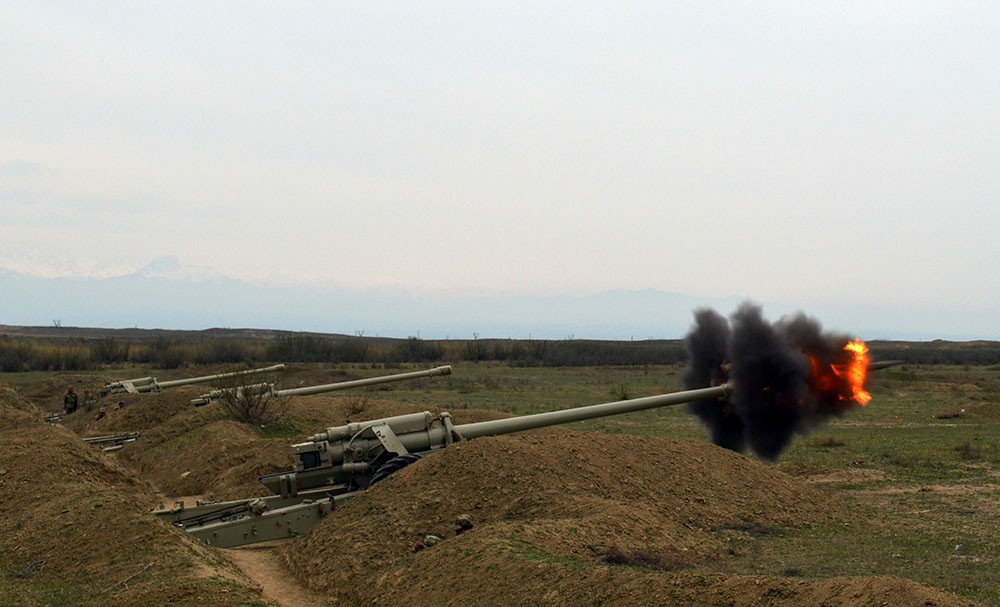Azerbaijan`s Defence Ministry: Live-fire stage was held during large-scale exercises