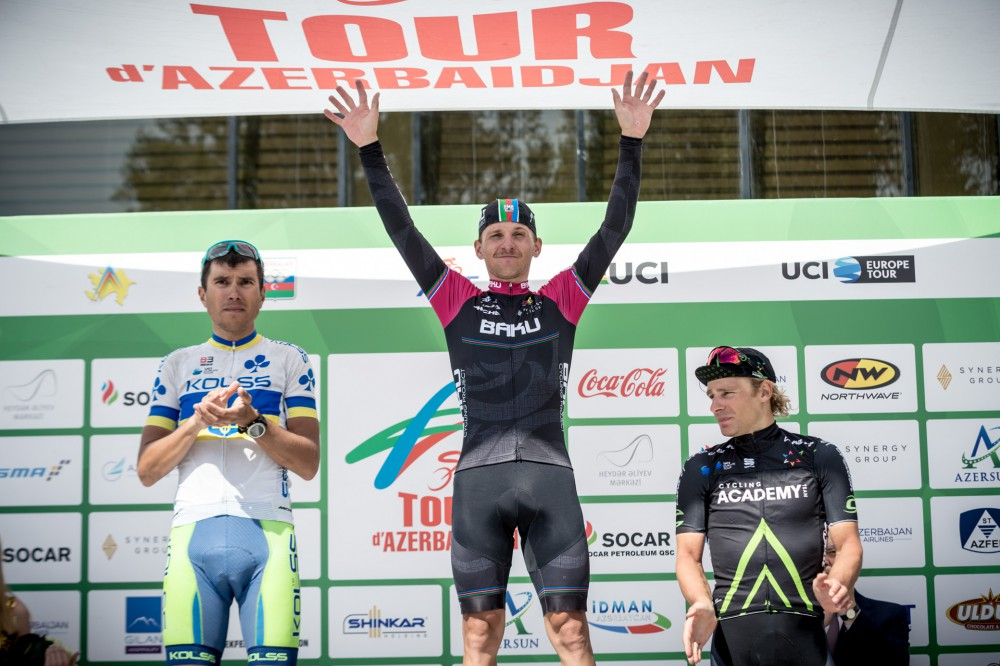 Synergy Baku Cycling Project rider solos to stage victory on stage 2 of Tour d'Azerbaidjan