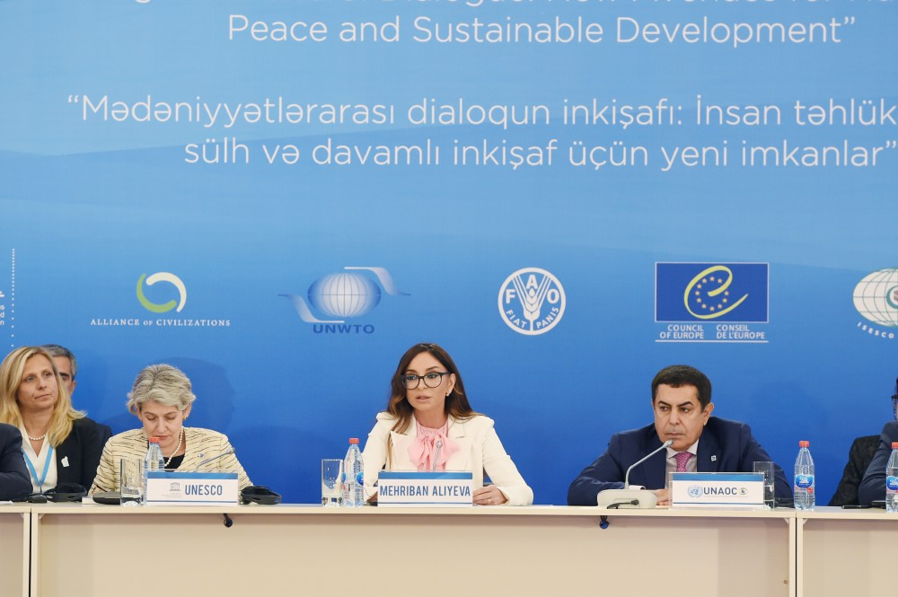 1st High Level Meeting of International Organizations held as part of 4th World Forum on Intercultural DialogueFirst Vice-President of Azerbaijan Mehriban Aliyeva attended the event