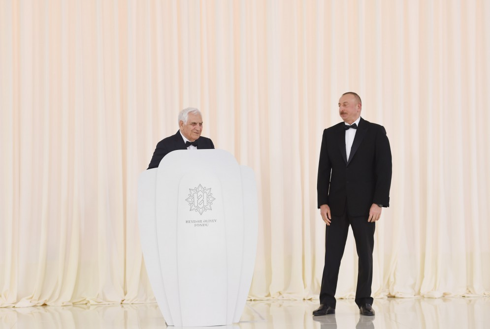 President Ilham Aliyev attended solemn ceremony to mark 94th anniversary of national leader Heydar Aliyev and 13th anniversary of the establishment of Heydar Aliyev Foundation VIDEO