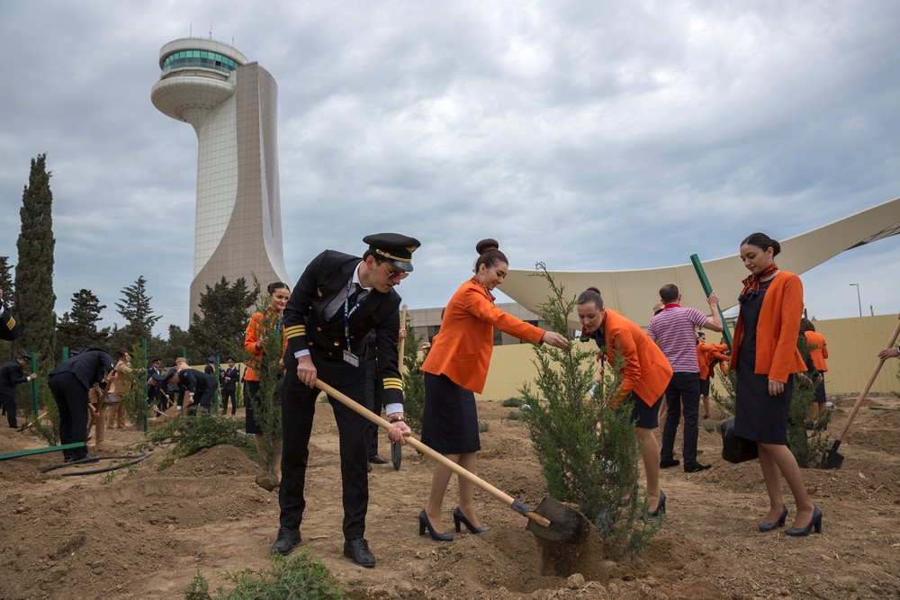 Tree Planting Campaign held at Heydar Aliyev International Airport