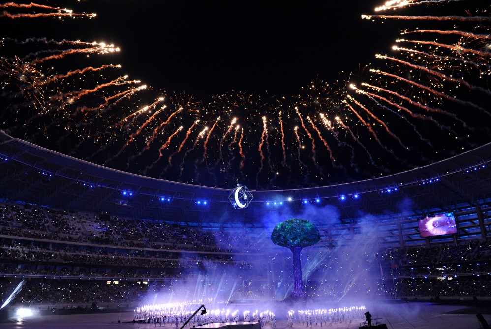 Closing Ceremony of 4th Islamic Solidarity Games at Baku Olympic Stadium AZERTAC`s live text commentary  VIDEO