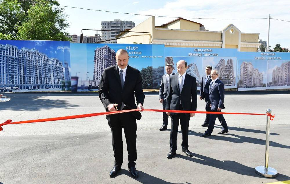 President Ilham Aliyev attended opening of new administrative building of Narimanov District Court VIDEO