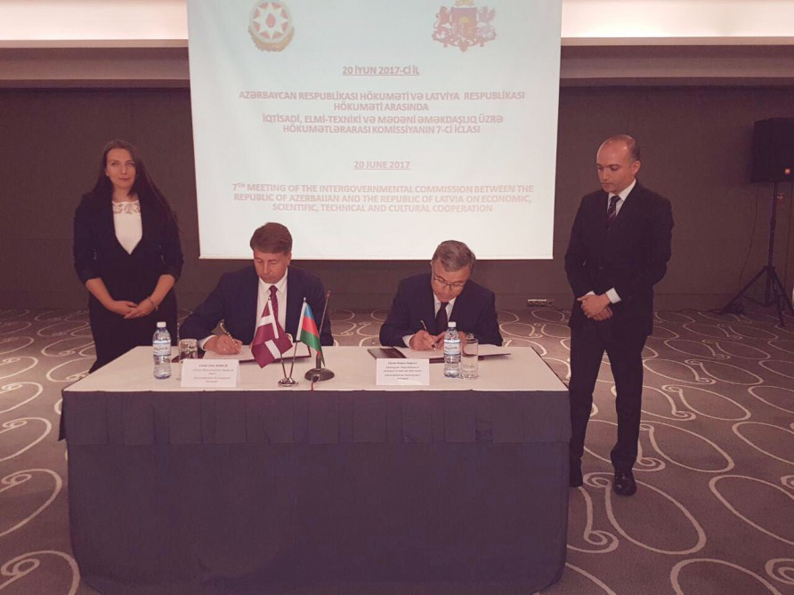 Azerbaijan, Latvia sign protocol of Intergovernmental Commission