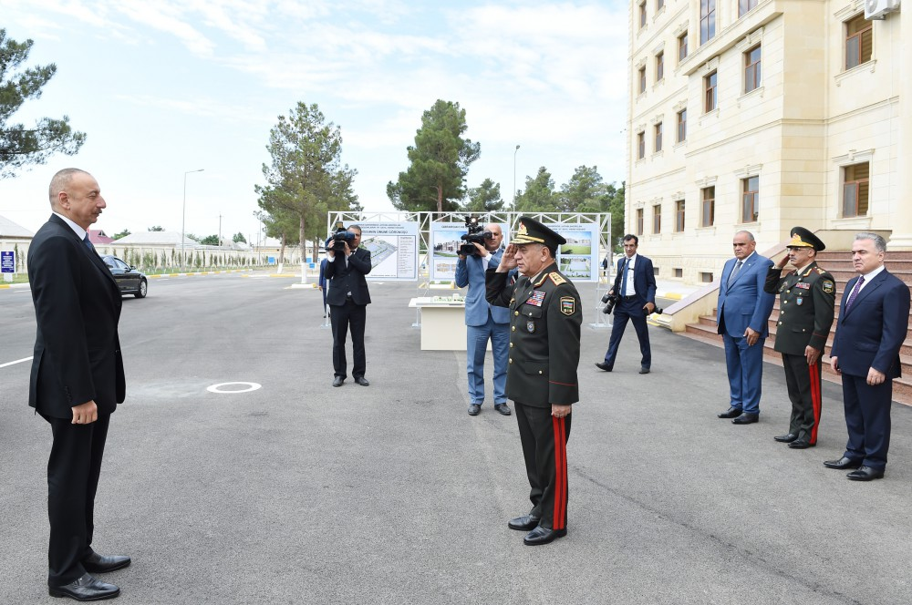 President Ilham Aliyev opened Internal Troops` military unit in Shirvan VIDEO