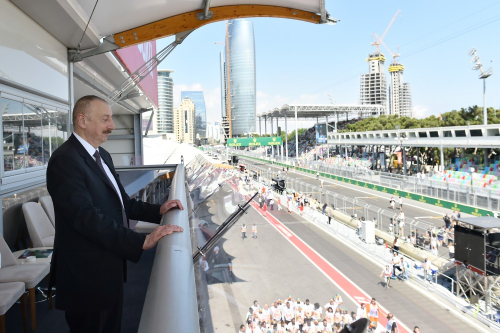 Formula 1 Azerbaijan Grand Prix successfully ended President Ilham Aliyev watched Opening Ceremony and final race