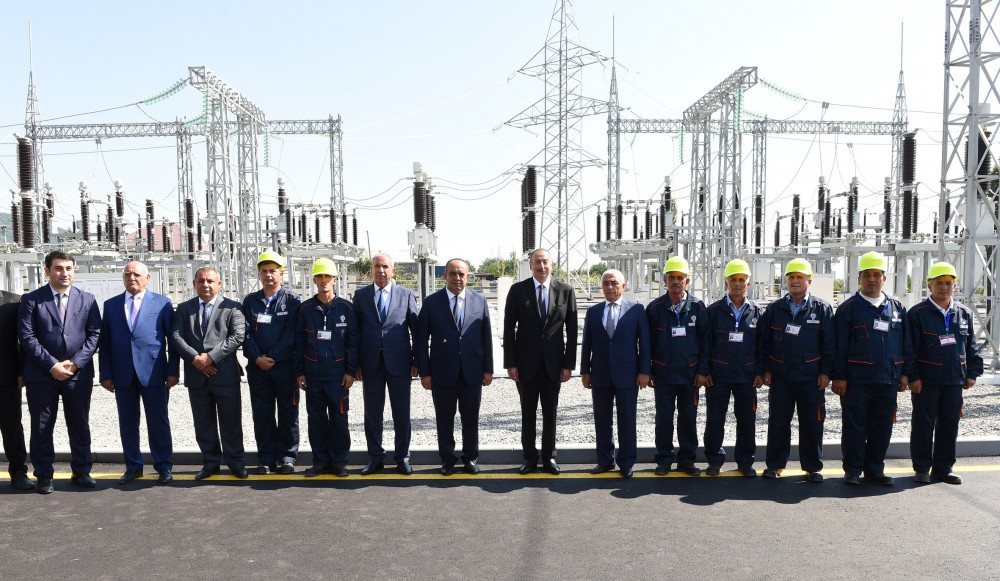 President Ilham Aliyev launched new electrical substation in Gakh VIDEO