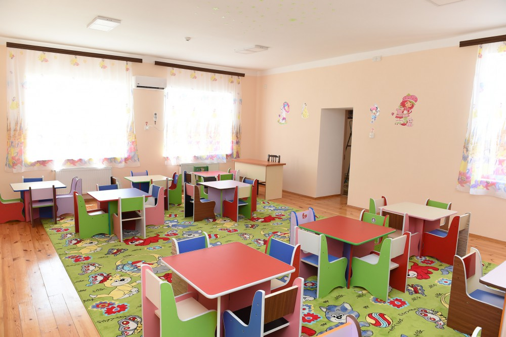 President Ilham Aliyev attended opening of newly renovated orphanage-kindergarten in Goygol VIDEO