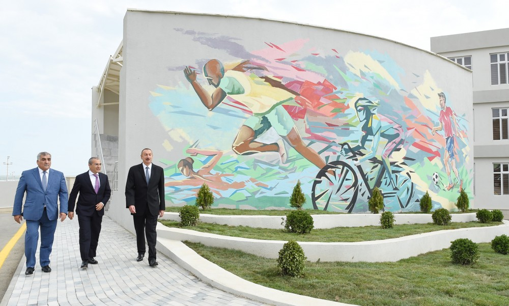 "President Ilham Aliyev attended opening of Zugulba training and sports base of ""Tahsil"" Republican Sports Center VIDEO"
